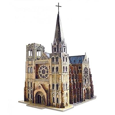 Keranova Keranova255 26 X 45 X 48 Cm Intelligente Carta Medievale Citt La Cattedrale Gotica 3d Puzzle 158 Piece