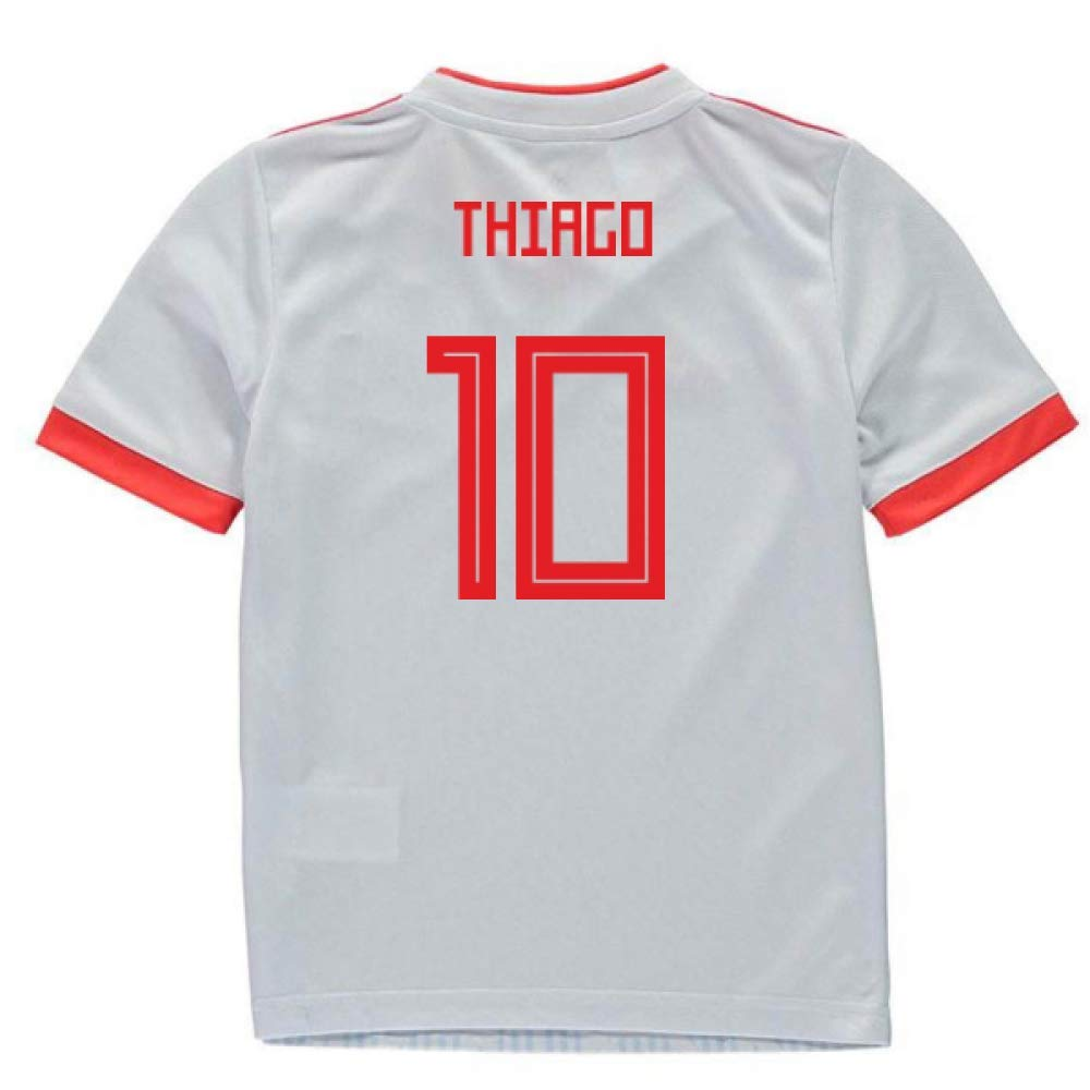 UKSoccershop 2018-2019 Spain Away Adidas Mini Kit (Thiago Alcantara 10)