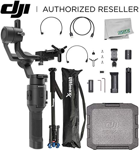 DJI 2019 Ronin-SC Compact Stabilizer 3-Axis Gimbal Handheld Stabilizer (Loki) for Mirrorless Camera Videographer Bundle - CP.RN.00000040.01 (Best Advanced Compact Cameras 2019)