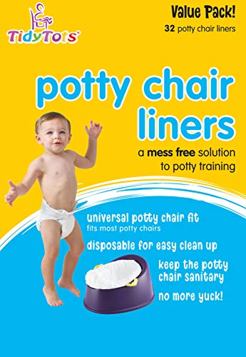 - TidyTots Disposable Potty Chair Liners - Value Pack - Universal Potty Chair Fit (fits most potty chairs) - 32 Liners