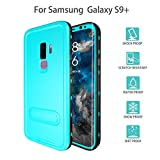 Galaxy S9 Plus Waterproof Case, Dooge Shockproof Dirtproof Snowproof Rain Proof, Heavy Duty Full Protection Case Cover with Kickstand Rugged IP68 Certified Waterproof Case for Samsung Galaxy S9 Plus