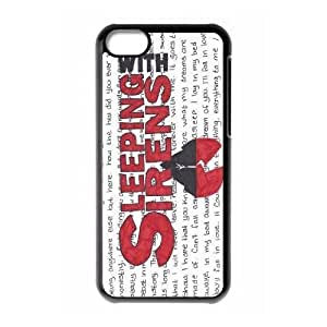 wugdiy Custom Hard Plastic Back Case Cover for iPhone 5C with Unique Design Sleeping with Sirens