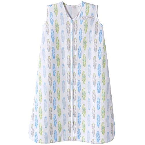 Halo Sleepsack Cotton Wearable Blanket, Feather Aloe Print, Small by Halo (Image #4)
