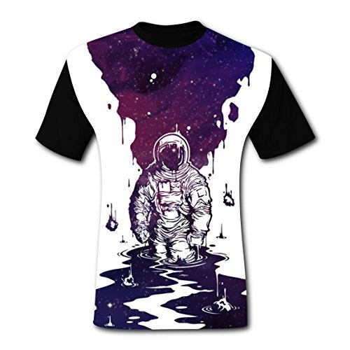 Funny Spaceman Galactic Walk Mens Tee T-shirt short sleeve Costume - Costume Walkman