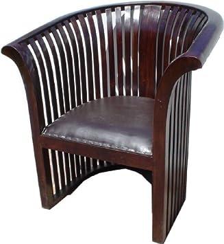 Style Colonial Chaise En Teck Et Des Siges Avec Revtement Cuir