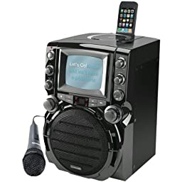 KARAOKE USA GQ752 CD+G Karaoke System with 5inin TFT Color Screen