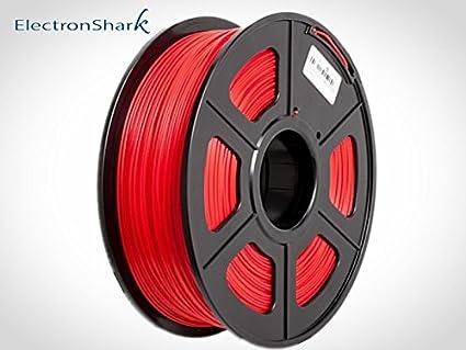 ABS filamento 3D 1.75mm 1KG, impresora 3D FDM PRUSA FFF (Rojo ...