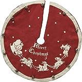 Mini Vintage Tree Skirt - Santa & Sleigh, Set of 3