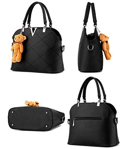Messenger Goma De Shoulder Portátil Ruiren Rosa Bag Bolso 6CwaEaqx0