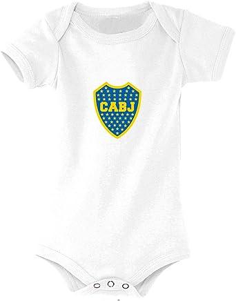 Boca Juniors Body Blanc Camiseta Unisex niños