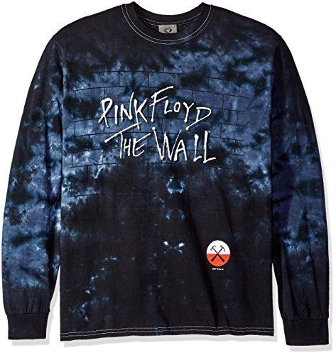 Liquid Blue Men's Brick in the Wall Long Sleeve T-Shirt, Tie Dye/Multi, X-Large (Rock Band Merchandise)