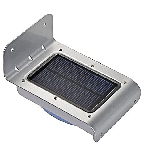 Tiny Deal Solar Motion Sensor Light Solar Powered Energy Saving LED Wall Lamp (White)
