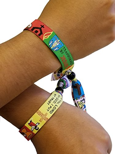 Custom logo fabric promotional bracelet Woven cloth 10 Wristband events festivals