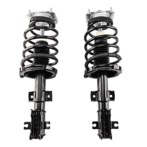 Front Pair Driver & Passenger Side Complete Struts Shocks Coil Springs Assembly for 2001-2009 Volvo S60,01-07 Volvo V70 ,1999-2006 Volvo S80-11861-11862