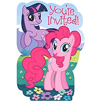 Amazoncom Amscan My Little Pony Party Invitations Toys Games