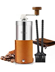 2018 New Portable Manual Coffee Grinder Set Professional Conical Ceramic Burrs Stainless Steel Grinder Easy to Clean for Home Travel Outdoor