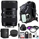 Sigma 18-35mm F1.8 Art DC HSM Lens for NIKON DSLR Cameras w/Sigma USB Dock + 32GB SD CARD & Advanced Photo & Travel Bundle, Promotional Dads & Grads Kit