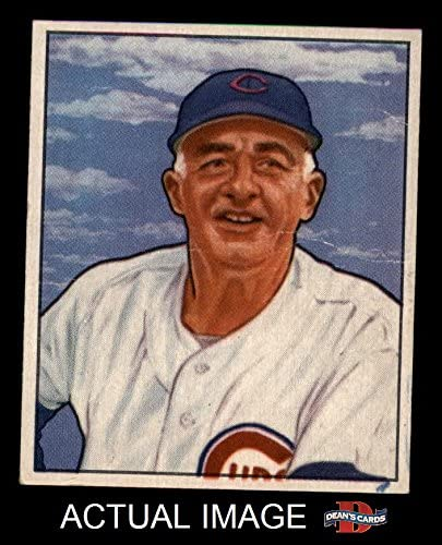 1950 Bowman # 229 CR Frankie Frisch Chicago Cubs (Baseball Card) (with Copyright on Back) Dean's Cards 3 - VG Cubs 51M9vWzfy9L