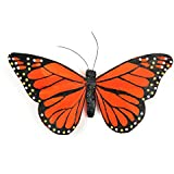 Touch of Nature 23023 Feather Butterfly, 6-Inch, Orange/Black