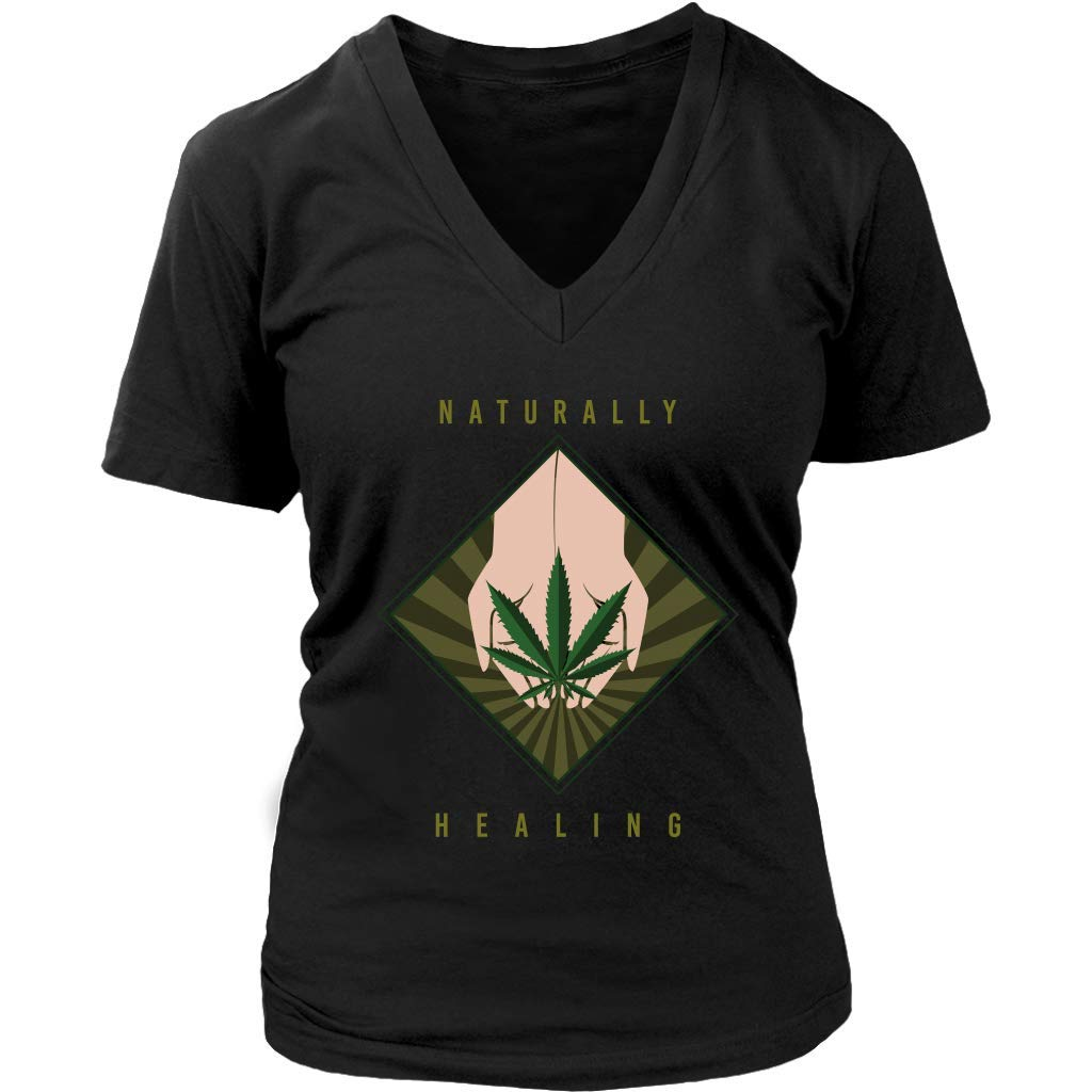 Medical Marijuana Naturally Healing Tee – Cannabis Cure – Womens Plus Size Up to 4X