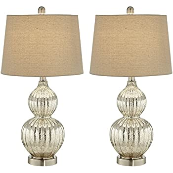 Lili Fluted Mercury Glass Table Lamp Set Of 2