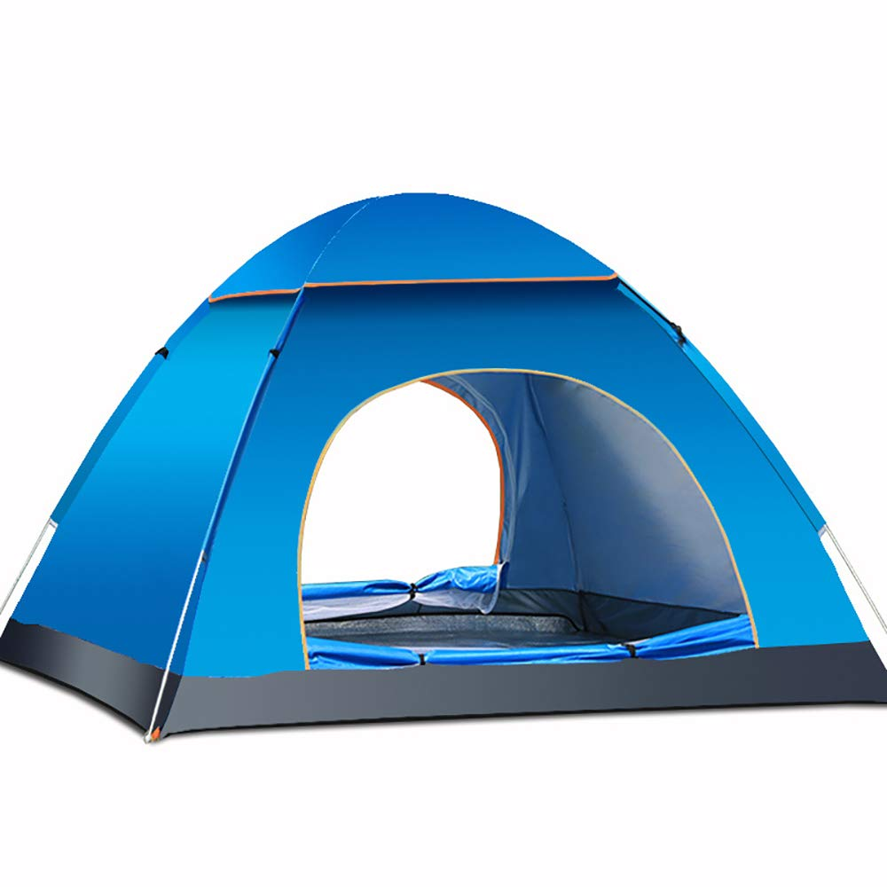 LBAFS Automatisches Sofortiges Pop-up-Zelt Im Freien Anti-UV Wasserdichtes Regen-Beweis Für Kampierendes Wanderndes Fischen-Strand, 3 bis 4 Mann,Blau