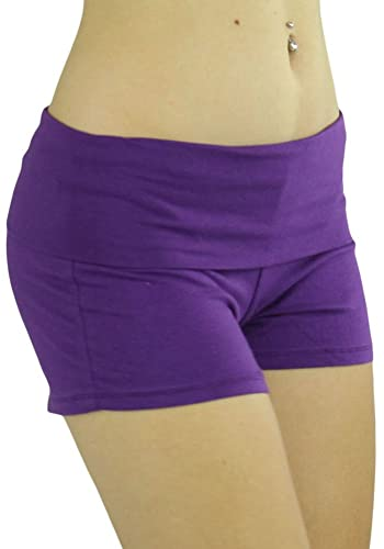 Purple Yoga Exercise Shorts
