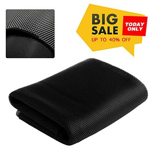 Black Speaker Grill Cloth Stereo Mesh Fabric For Speaker Repair - 140x50cm