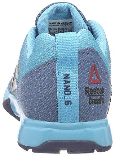 Reebok Crossfit Nano 6.0, Zapatillas Deportivas para Interior para Mujer Azul (slate/crisp Blue/lemon Zest/blue Ink/pewter)