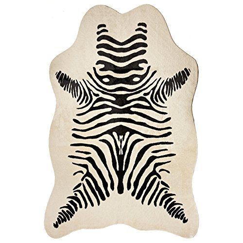 Used, Donna Salyers' Fabulous-Furs Zebra Faux Hide Rug, for sale  Delivered anywhere in USA