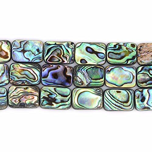 Shell Flat Rectangle Beads Strand 16