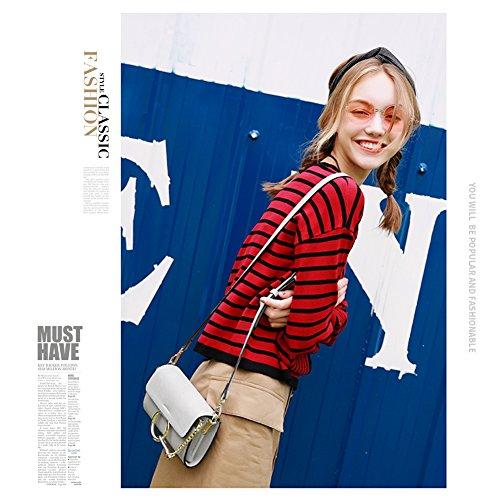 Yoome bolso de la aleta de gama alta bolsos circulares de la vendimia del anillo para las mujeres bolsos mini para los adolescentes bolso de la envoltura - negro Negro