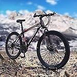 Bike-Mountain-26-Pollici-21-velocit-Bicicletta-Bici-parafango-Anteriore-e-Posteriore-per-Uomo-Doppio-Disco-e-Doppia-Sospensione-per-Adulti-Mountain-Sedile-Regolabile