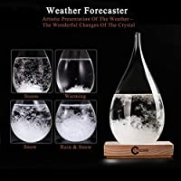 FOXKEY Creative Deskstop Clear Storm Glass - Weather Forecoast - Best Gift 's Choice - Fashional Decoration in Your Home Office. (Large) by 3D HOME®