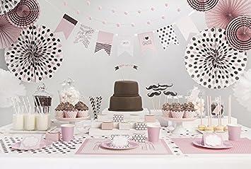 Partyset Komplettset Rosa 48 Teilig Partygeschirr Geburtstag
