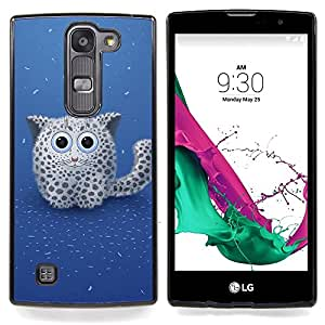 GIFT CHOICE / Teléfono Estuche protector Duro Cáscara Funda Cubierta Caso / Hard Case for LG G4c Curve H522Y ( G4 MINI , NOT FOR LG G4 ) // Cute Snow Panther //