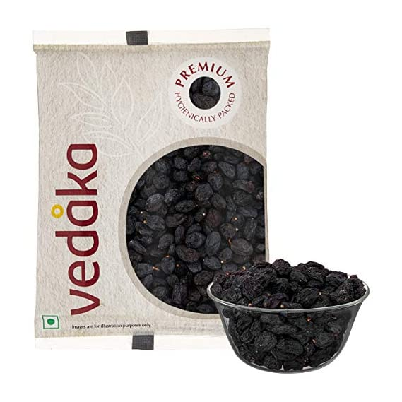 Amazon Brand - Vedaka Premium Black Raisins, 200g