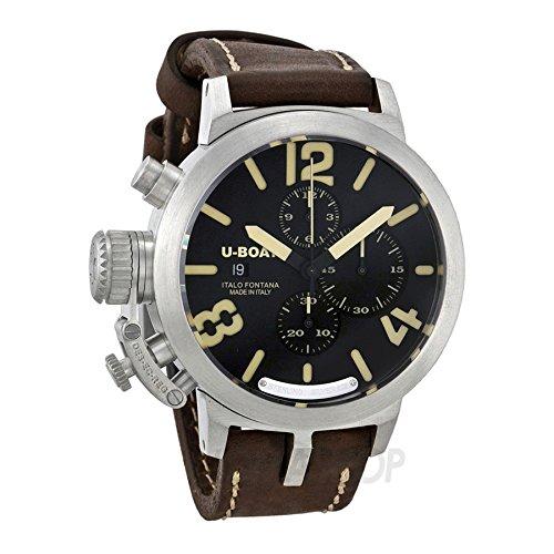U Boat Classico Black Dial Chronograph Automatic Mens Watch 7453
