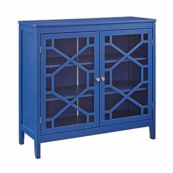 Amazon.com: Riverbay Furniture - Armario grande, color azul ...
