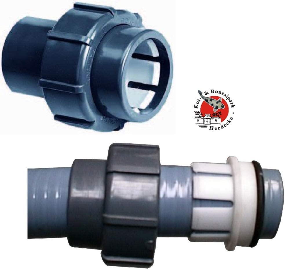 Sibo/ Aquaforte – Manguera de Piscina Conector Flexfit de 50 mm Abrazadera cúpula. 50 Pinzas de PVC.