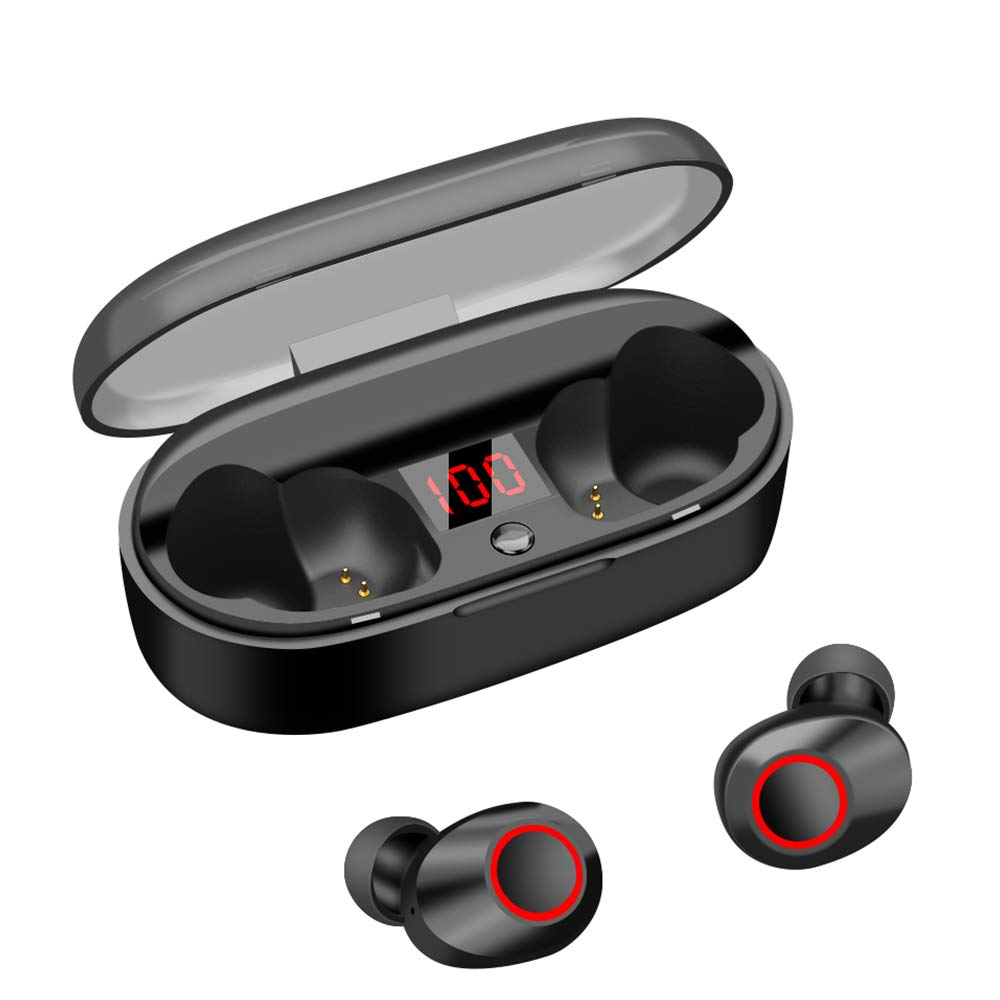 Wireless Earbuds Bluetooth 5.0 20H Playtime IPX5 Waterproof True Bluetooth Wireless Earbuds 3D Stereo Sport Wireless Earbuds Built-in Mic HiFi Sound in-Ear Bluetooth Earphone LED Display Charging Case