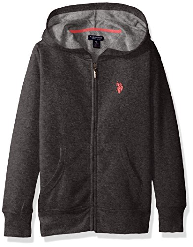 U.S. Polo Assn. Big Girls' Long Sleeve Zip up Fleece Hoodie, Medium...