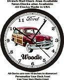 1950 FORD WOODIE WALL CLOCK-FREE USA SHIP