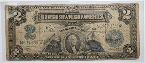 - 1899 Series $2 Silver Certificate Circulated