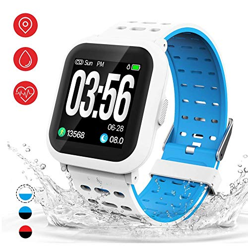 AKASO Smart Watch Fitness Tracker HR, Activity Tracker with Heart Rate Monitor, Waterproof Pedometer Watch,Step Counter…