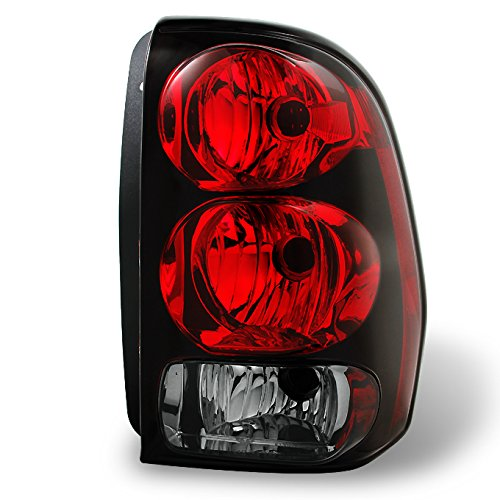 For 02-09 Chevy Trailblazer Red Clear Rear Passenger Right Side Tail Light Brake Lamp Taillamp ()