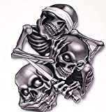 "See No Evil Hear No Evil Speak No Evil Decal 5"" Shipped from the United States"