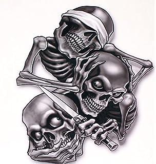 Amazoncom I Fork Skull Decals For Honda Kawasaki Suzuki Yamaha - Skull decals for motorcycles