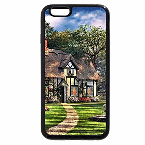 iPhone 6S / iPhone 6 Case (Black) Thatch-roofed Tudor House F2