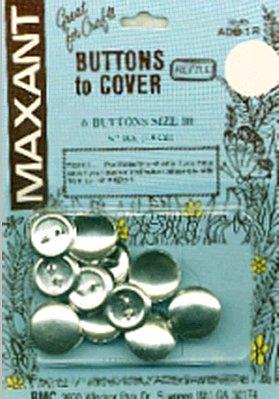 Cover Button Refill (Maxant Button 6-Pack Cover Button Refill, 3/4-Inch)